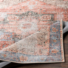 Load image into Gallery viewer, WASHABLE Amelie Farmhouse Terracotta & Denim Area Rug
