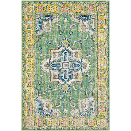 Surya Aura Silk Fern & Forest Area Rug