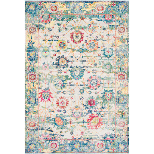 Surya Aura Silk Light Blue & Multi Area Rug
