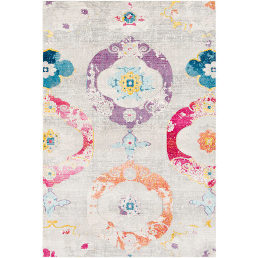 Surya Aura Silk Light Gray & Multi Area Rug