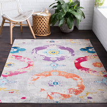 Load image into Gallery viewer, Surya Aura Silk Light Gray & Multi Area Rug