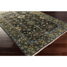 Load image into Gallery viewer, Surya Antique Luxury Charcoal & Dark Green Rug