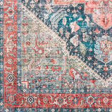 Load image into Gallery viewer, Farmhouse Erin Terracotta & Navy Rug