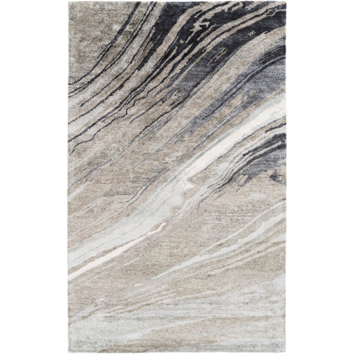 Gemini Contemporary Rug in Charcoal & Light Gray