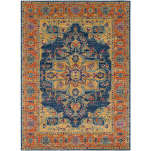 Load image into Gallery viewer, Surya Harput Farmhouse Area Rug - Terracotta & Navy