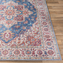 Load image into Gallery viewer, Iris Farmhouse Navy & Sand Area Rug