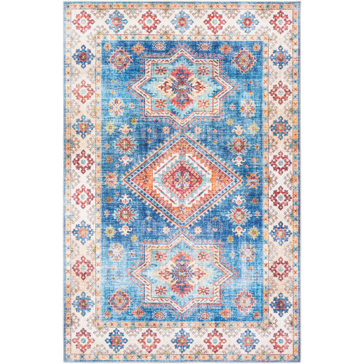 Iris Farmhouse Multi & Navy Area Rug
