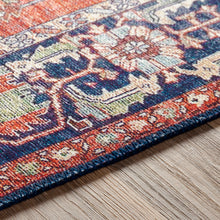 Load image into Gallery viewer, Iris Farmhouse Berry & Navy Area Rug