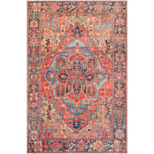 Load image into Gallery viewer, Iris Farmhouse Terracotta & Navy Area Rug