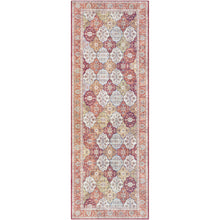 Load image into Gallery viewer, Iris Farmhouse Berry & Camel Area Rug