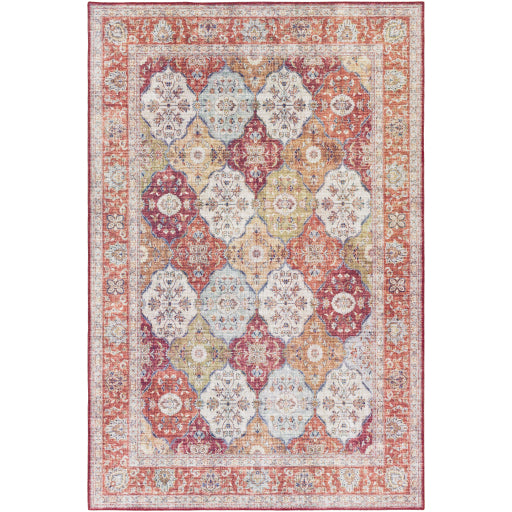Iris Farmhouse Berry & Camel Area Rug