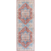 Load image into Gallery viewer, Iris Farmhouse Burnt Orange & Denim Area Rug