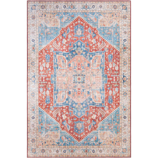 Iris Farmhouse Burnt Orange & Denim Area Rug