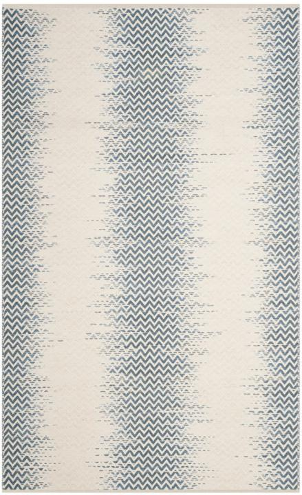 Safavieh Kilim Farmhouse Blue & Ivory Rug
