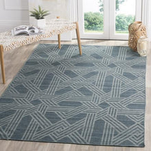 Load image into Gallery viewer, Safavieh Kilim Farmhouse Navy & Light Blue Rug