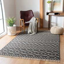 Load image into Gallery viewer, Safavieh Kilim Bohemian Charcoal & Ivory Rug