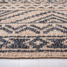 Load image into Gallery viewer, Safavieh Kilim Bohemian Natural & Charcoal Rug