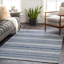 Load image into Gallery viewer, WASHABLE La Casa Navy & White Rug
