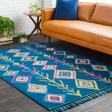 Load image into Gallery viewer, Surya Bohemian Love Area Rug in Navy & Multi