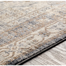 Load image into Gallery viewer, Liverpool Farmhouse Area Rug in Charcoal & Silver