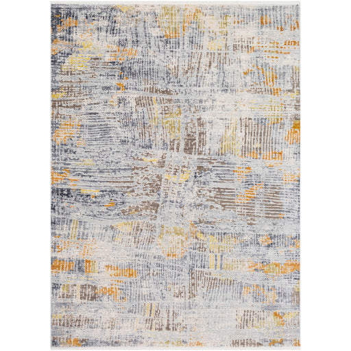Liverpool Farmhouse Area Rug in Light Gray & Yellow