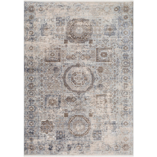 Liverpool Farmhouse Area Rug in Charcoal & Light Gray