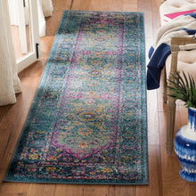Load image into Gallery viewer, Safavieh Madison Bohemian Fuchsia & Navy Rug