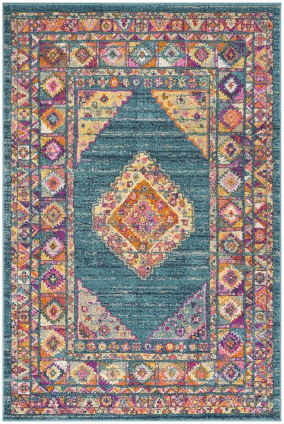 Safavieh Madison Transitional Turquoise & Terracotta Rug
