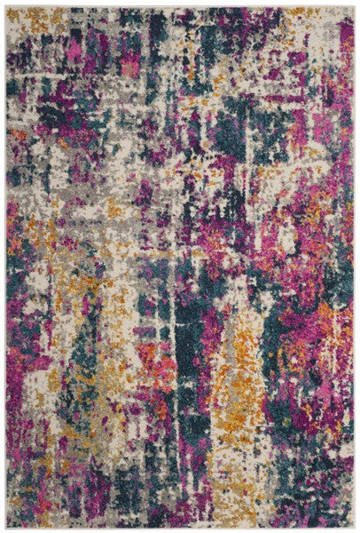 Safavieh Madison Transitional Fuchsia & Blue Rug