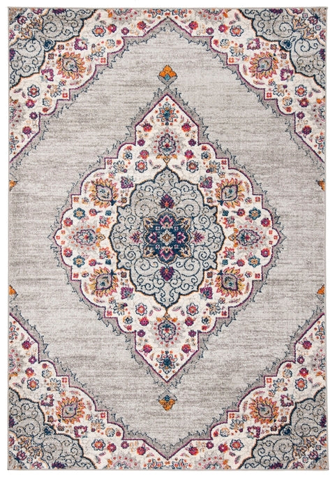 Safavieh Madison Transitional Light Grey & Fuchsia Rug