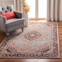 Load image into Gallery viewer, Safavieh Madison Traditional Grey & Fuchsia Rug