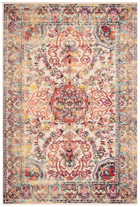 Safavieh Madison Traditional Ivory & Red Rug