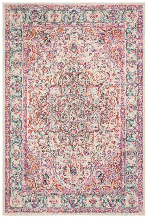 Safavieh Madison Traditional Beige & Blush Rug