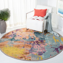 Load image into Gallery viewer, Safavieh Madison Contemporary Blue & Orange Rug