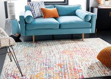 Load image into Gallery viewer, Safavieh Madison Contemporary Light Blue & Orange Rug