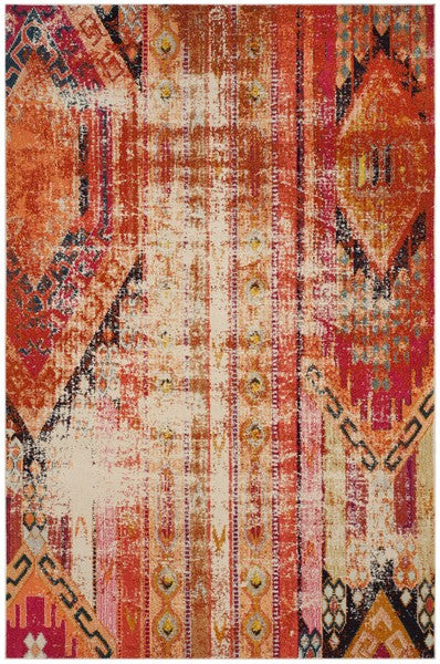 Safavieh Monaco Bohemian Orange & Multi Rug