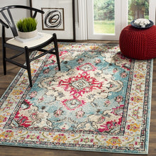 Load image into Gallery viewer, Safavieh Monaco Traditional Light Blue & Fuchsia Rug