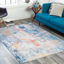 Load image into Gallery viewer, Surya Olivia Navy & Burnt Orange Rug