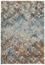 Load image into Gallery viewer, Dalyn Aero Mocha & Light Blue Rug
