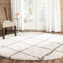 Load image into Gallery viewer, Safavieh Hudson Shag Ivory & Gray Diamond Rug