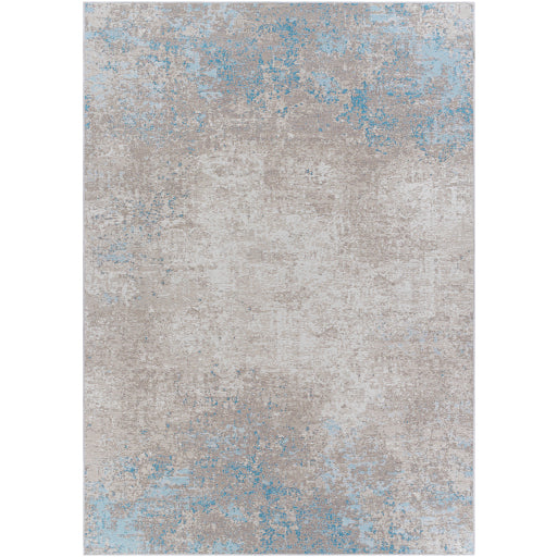 Pet-Friendly Costa Mesa Sky Blue & Taupe Area Rug
