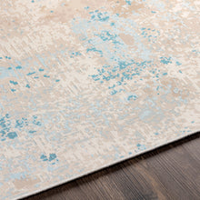 Load image into Gallery viewer, Pet-Friendly Costa Mesa Sky Blue & Cream Area Rug