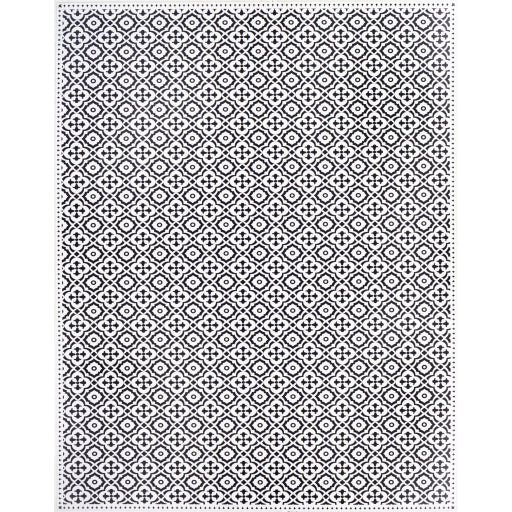 Pet-Friendly Vinilo Black & White Area Rug