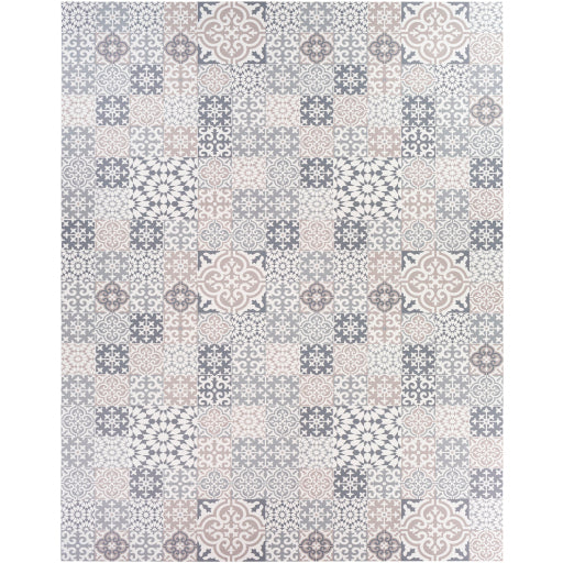 Pet-Friendly Vinilo Charcoal & Oatmeal Area Rug