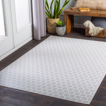 Load image into Gallery viewer, Pet-Friendly Vinilo Silver & White Area Rug