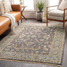 Load image into Gallery viewer, Luxury Zeus Charcoal & Dark Brown Rug