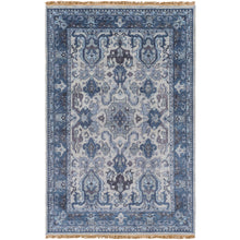 Load image into Gallery viewer, Luxury Zeus Navy & Light Gray Rug