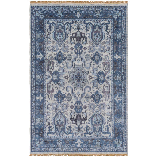Luxury Zeus Navy & Light Gray Rug