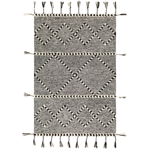 Joanna Farmhouse Charcoal & Black Area Rug