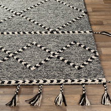 Load image into Gallery viewer, Joanna Farmhouse Charcoal & Black Area Rug